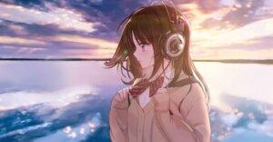 Rating: Safe Score: 38 Tags: headphones seifuku sweater tsukigami_luna User: Mr_GT