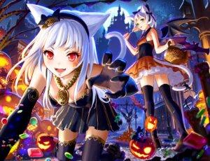 Rating: Safe Score: 48 Tags: animal_ears dress halloween nekomimi sachimaa tail tattoo thighhighs wings User: Mr_GT