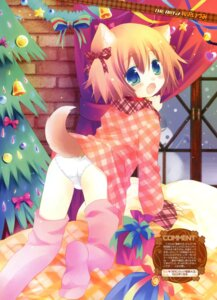Rating: Questionable Score: 41 Tags: animal_ears inumimi loli pantsu sakurazawa_izumi tail thighhighs User: fireattack