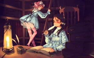 Rating: Questionable Score: 13 Tags: aria_vancleef ass dress kaya_xavier littlewitch loli lolita_fashion oyari_ashito shoujo_mahou_gaku_little_witch_romanesque thighhighs wallpaper User: Radioactive
