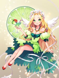 Rating: Safe Score: 24 Tags: cleavage dress kostop pointy_ears wings User: Brufh
