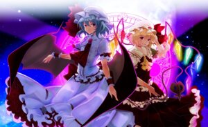 Rating: Safe Score: 14 Tags: dress flandre_scarlet kagura_kurosaki remilia_scarlet touhou wings User: charunetra