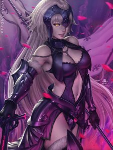 Rating: Safe Score: 35 Tags: armor cleavage dress fate/grand_order jeanne_d'arc jeanne_d'arc_(alter)_(fate) mirco_cabbia signed sword thighhighs User: charunetra