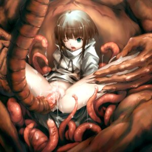 Rating: Explicit Score: 83 Tags: censored extreme_content hitomaru loli monster nopan pussy sex shrine tentacles User: blooregardo