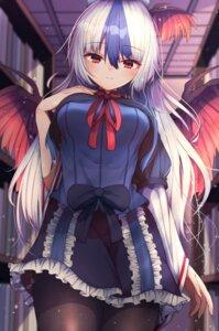 Rating: Questionable Score: 10 Tags: darumoon pantyhose tokiko touhou wings User: Mr_GT