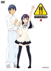Rating: Safe Score: 15 Tags: adachi_shingo disc_cover souma_hiroomi thighhighs waitress working!! yamada_aoi User: hyde333