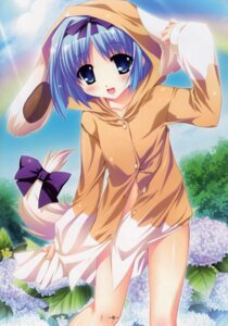 Rating: Safe Score: 36 Tags: animal_ears katagiri_hinata kujou_yuuka magus_tale pajama tail User: MirrorMagpie