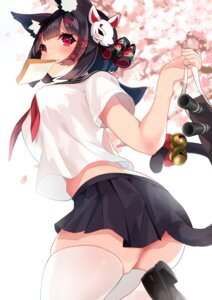 Rating: Safe Score: 37 Tags: animal_ears azur_lane nekomimi sanba_tsui seifuku tail thighhighs yamashiro_(azur_lane) User: BattlequeenYume
