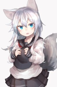 Rating: Safe Score: 49 Tags: animal_ears hibiki_(kancolle) kantai_collection ranf seifuku tail User: Mr_GT