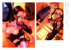Rating: Explicit Score: 40 Tags: breasts business_suit censored cum handjob megane nipples nishieda open_shirt penis shota stockings thighhighs User: Radioactive