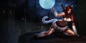 Rating: Questionable Score: 8 Tags: animal_ears bikini_top cleavage league_of_legends sword tagme tail User: Radioactive