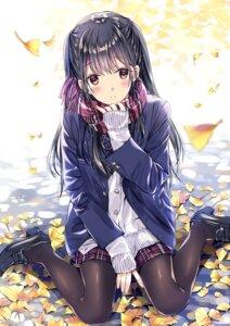 Rating: Safe Score: 52 Tags: heels kobayashi_chisato pantyhose seifuku sweater User: RyuZU
