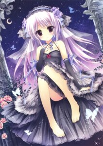 Rating: Questionable Score: 121 Tags: cleavage dress feet gothic_lolita lolita_fashion shiramori_yuse User: Twinsenzw