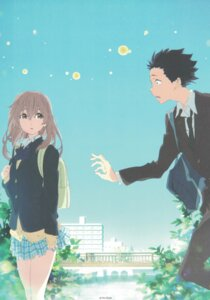 Rating: Safe Score: 37 Tags: ishida_shouya koe_no_katachi nishimiya_shouko seifuku sweater User: yswysc