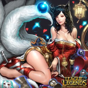 Rating: Safe Score: 51 Tags: ahri animal_ears cleavage kitsune league_of_legends shen tail User: aihost