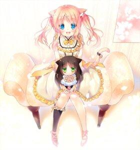 Rating: Questionable Score: 30 Tags: animal_ears chibi miwabe_sakura nekomimi tail User: fairyren