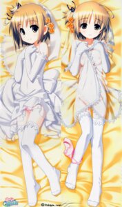 Rating: Questionable Score: 101 Tags: dakimakura dress hiide loli nekomiya_nono nipples pantsu panty_pull see_through thighhighs undressing wedding_dress yotsunoha User: sagkhaara