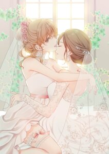 Rating: Safe Score: 34 Tags: dress garter sheepd skirt_lift wedding_dress yuri User: Mr_GT
