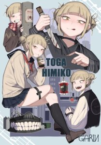 Rating: Safe Score: 13 Tags: blood boku_no_hero_academia garin garter seifuku skirt_lift sweater toga_himiko weapon User: Dreista