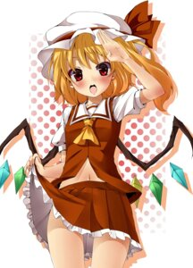 Rating: Safe Score: 19 Tags: flandre_scarlet mamedenkyuu skirt_lift touhou wings User: Radioactive