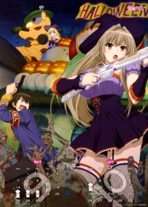 Rating: Safe Score: 86 Tags: amagi_brilliant_park blood calendar dress fishnets gun halloween kanie_seiya latifah_fleuranza moffle monster sento_isuzu stockings thighhighs uniform witch User: drop