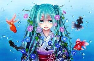 Rating: Safe Score: 12 Tags: hatsune_miku kimono sio vocaloid User: Amdx1