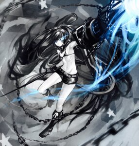 Rating: Questionable Score: 30 Tags: bikini_top black_rock_shooter black_rock_shooter_(character) cleavage dio_uryyy gun sword underboob User: Mr_GT