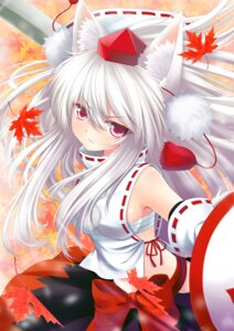Rating: Questionable Score: 26 Tags: animal_ears inubashiri_momiji ookami_ryuu sarashi sword touhou User: 椎名深夏