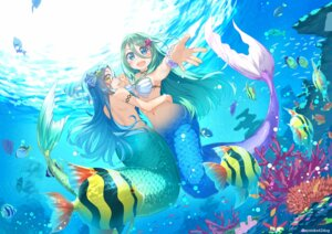 Rating: Questionable Score: 17 Tags: ayataka bikini_top mermaid monster_girl swimsuits tagme tail topless User: Dreista