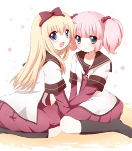 Rating: Safe Score: 17 Tags: hanica_miracle seifuku toshinou_kyouko yoshikawa_chinatsu yuru_yuri User: ddns001