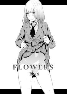 Rating: Questionable Score: 15 Tags: midorikawa_hana monochrome nopan prison_school seifuku skirt_lift yamada_yuuya User: 8mine8