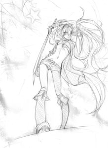 Rating: Safe Score: 18 Tags: black_rock_shooter black_rock_shooter_(character) monochrome sketch sword takka vocaloid User: Radioactive