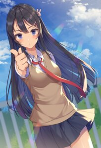 Rating: Safe Score: 47 Tags: izumo_neru sakurajima_mai seifuku seishun_buta_yarou_series sweater User: Mr_GT