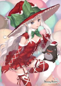 Rating: Safe Score: 133 Tags: christmas devil dress elf fixed lolita_fashion melty_de_granite no_bra pointy_ears sega shining_hearts shining_world sorbe stockings thighhighs tony_taka witch User: fireattack