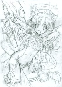 Rating: Questionable Score: 5 Tags: komatsu_e-ji mecha_musume monochrome sketch User: petopeto