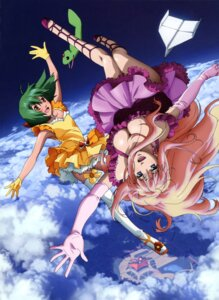 Rating: Safe Score: 25 Tags: ai-kun cleavage dress macross macross_frontier ranka_lee sheryl_nome takahashi_yuuichi thighhighs User: Radioactive