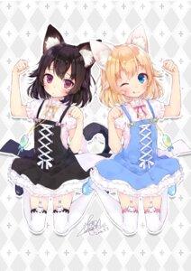 Rating: Safe Score: 47 Tags: animal_ears dress fushimi_sameta nekomimi stockings tail thighhighs User: Mr_GT