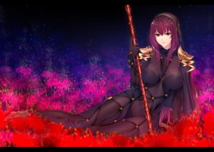 Rating: Questionable Score: 28 Tags: armor bodysuit erect_nipples fate/grand_order heels scathach_(fate/grand_order) thighhighs weapon zucchini User: mash