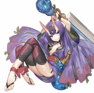 Rating: Safe Score: 34 Tags: akizone fate/grand_order feet horns no_bra open_shirt shuten_douji_(fate/grand_order) sword thighhighs User: Mr_GT