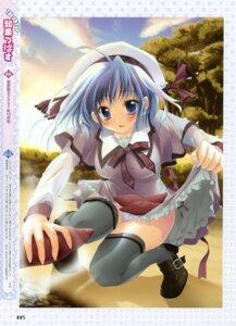 Rating: Questionable Score: 19 Tags: izumi_tsubasu pantsu seifuku shimapan thighhighs User: midzki