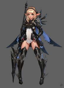 Rating: Safe Score: 34 Tags: armor daejun_park pantsu pointy_ears see_through tagme thighhighs weapon User: NotRadioactiveHonest