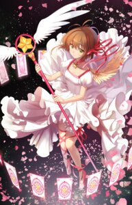 Rating: Safe Score: 31 Tags: (ice_aptx) card_captor_sakura dress kinomoto_sakura weapon wings User: charunetra
