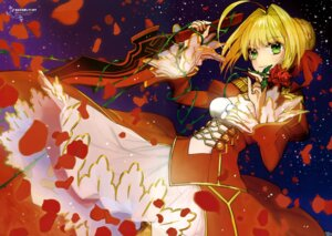 Rating: Safe Score: 59 Tags: dress fate/extra fate/stay_night saber_extra sword type-moon wada_rco User: drop