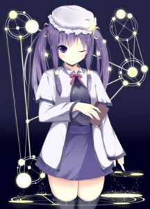Rating: Safe Score: 35 Tags: amatsuki_hotaru dress patchouli_knowledge thighhighs touhou User: TassadaR