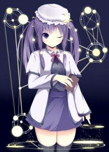 Rating: Safe Score: 37 Tags: amatsuki_hotaru dress patchouli_knowledge thighhighs touhou User: TassadaR