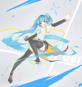 Rating: Safe Score: 42 Tags: fhang hatsune_miku headphones heels thighhighs vocaloid User: Mr_GT