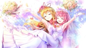 Rating: Safe Score: 51 Tags: dress minust saigyouji_yuyuko see_through touhou wallpaper wedding_dress yakumo_yukari yuri User: Mr_GT