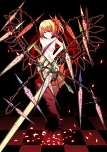 Rating: Questionable Score: 21 Tags: flandre_scarlet naked noirly sword touhou wings User: charunetra