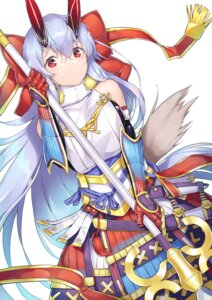 Rating: Safe Score: 29 Tags: armor dabuki fate/grand_order horns japanese_clothes tomoe_gozen_(fate/grand_order) weapon User: Nepcoheart