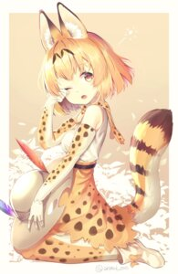 Rating: Safe Score: 25 Tags: animal_ears animal_ears_(artist) kemono_friends serval tail User: Mr_GT